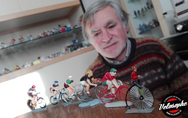 Une partie des 400 figurines cyclistes de la collection de Patrick Pierloz.